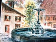 *858- La fontaine du vieux marché à Gérardmer