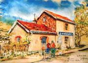 877- La gare de Zainvillers, en direct, lors d'une fête de la Voie Verte