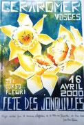 *828- Affiche de la Fête des jonquilles de l'an 2000, objet d'un concours