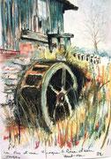 881- La roue d'eau de la scierie de Bois-de-Champ