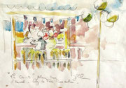 * 552- Mon premier dessin aquarellé réalisé à la guiguette de la croisette d'Hérival