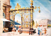 852- La  Place Stanislas à Nancy, 60 x 80
