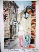 851- Plombières, en direct , les peintres dans la rue