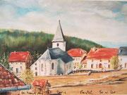 869- Le-Haut-du -Tôt, en direct de la Fête des Plantes, 50 x 70