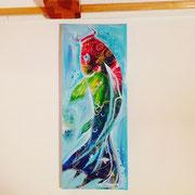 """""""Koi-Fisch"""" Acryl 20x60 SOLD"""