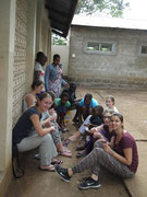 Preparing to look good - a common theme to both, tanzanian and german young ladies (VTC).