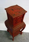 chinesische Möbel antik Rotlack Dekoration