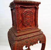 Asien Möbel antik Rotlack Dekoration