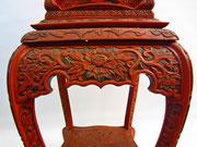 asiatische Möbel antik Rotlack Dekoration - Yin & Yang Asiatika - Klaus Dellefant