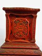 chinesische Möbel antik Rotlack Dekoration - Yin & Yang Asiatika - Klaus Dellefant