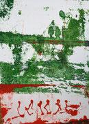 Spiegelung am Deich II (Transfer-Lithografie; Handabzug)