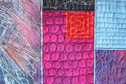 """Textilcollage """"Engel sterben nie"""", Detail"""