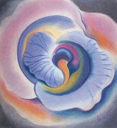 """IRIS #8"", Pastellmalerei auf Papier,"