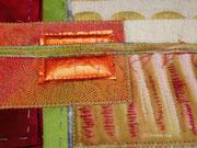 """Textile Collage, """"Wurzeln und Flügel"""", Detail"""