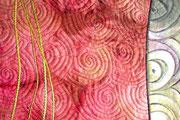 "Shibori-Artquilt ""Flow_#2"", Detail"