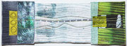 """Textile Collage """"Licht ist immer"""", Shibori, handgefärbte Stoffe, ca. 15 x 40 cm, 2016, verkauft"""