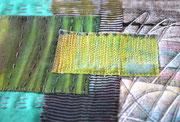 """Textile Collage, """"Zwei Seiten"""", Detail"""