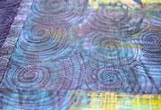 """Textilcollage """"Staub im Wind"""", Detail"""
