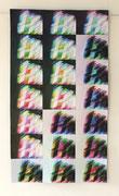 """LICHTSPUREN / MARKS OF LIGHT"", Digital-Art-Quilt, experimentelles Digitalfoto auf Baumwollstoff gedruckt, maschinengequiltet, 76 x 134 cm"