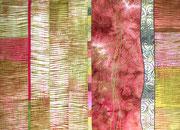 """""""Flow_#2"""", Shibori-Artquilt, handgefärbte Stoffe, 2017,"""