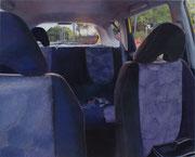 夕暮れる・バックシート 1303×1620mm パネルに綿布 アクリル