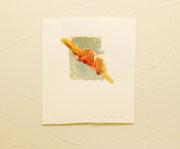 しっかりとその手をはなさない 画用紙に水可溶性絵具