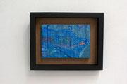 雨が降る 160×230mm パネルに和紙 岩絵具