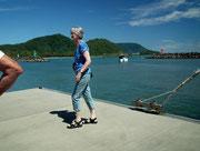 Warten auf das Tender-Boot zur Rückfahrt zur «Radiance of the Seas»