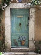 """und nochmals eine schöne """"tromp d'oeil Malerei"""" an einer Türe"""
