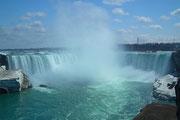 Die grossen «Horse Shoe Falls» oder Canadian Falls» . . .