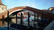 Auch auf Murano natürlich die vielen hübschen Brücken über die Kanäle