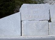Der weisse Carrara-Marmor mit seinem unverwechselbarem Charme