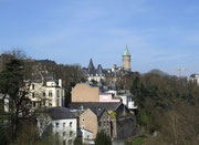 Blick von der Brücke auf Luxemburg . . .