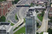 Zum Schluss noch einen Blick auf die Stadtautobahn von Atlanta