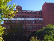 Das rote Backstein-Tee-Haus