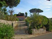 Schöne Zufahrt zu einer versteckten Villa