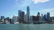 Blick vom Hudson River auf Manhattan