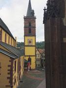 Der Turm der Evangelischen Stiftskirche