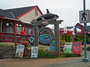 Hübsche Eingangsszenerie für ein Fisch-Restaurant