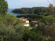 Blick zur idyllischen Bucht von Naregno