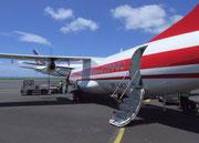 Mit einer Turboprop-Maschine gehts in ¾ Std. von Mauritius nach La Réunion