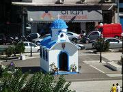 Dieses kleine typisch griechische Zollhäuschen steht am Hafen von Piräus