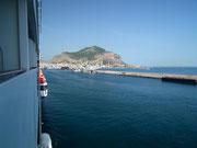 Guten Morgen Palermo. Im Hintergrund der Monte Pellegrino