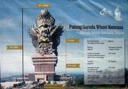 Die riesengrosse «Garuda Wisnu Kercana» Statue mit 120 Metern Gesamthöhe