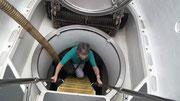 Margarita hat tapfer auch den Abstieg/Einstieg ins U-Boot gewagt - Bravo !