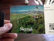 Mit dem «Skyrail» fahren wir über und in den Regenwald.