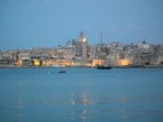 Abendlicher Blick auf Valletta