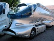LKW-Silotransporter auf Mercedes-Chassis aufgebaut