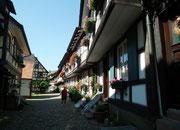 Aneinander gereihte Häuser dienten als Stadtmauer