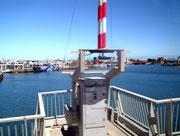 Lustig getroffener Blick auf den Hafen von Adelaide